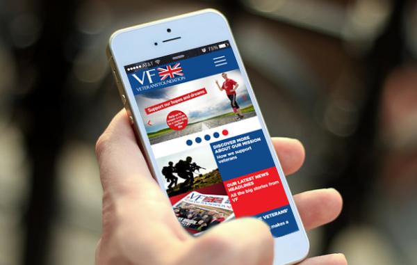 Veterans' Foundation on mobile